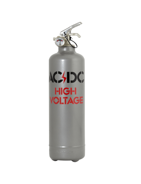 Extincteur design ACDC High Voltage gris