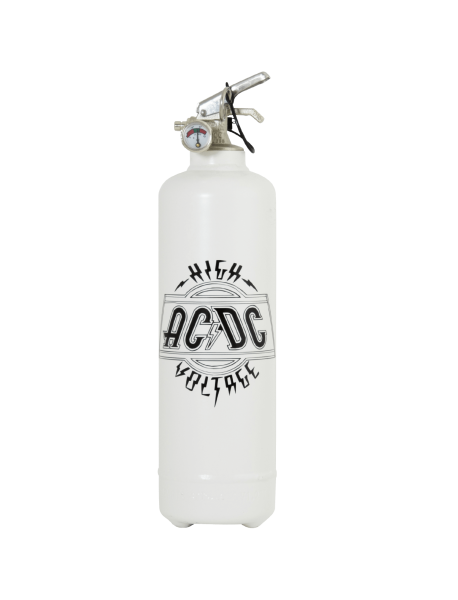 Extincteur design ACDC logo high voltage