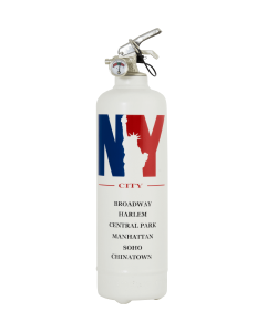 Fire extinguisher design City NBY white