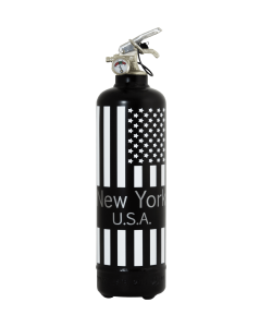 Fire extinguisher design New York USA black