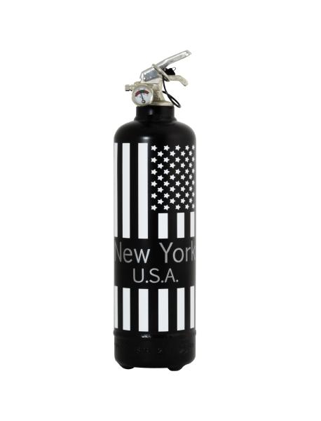 Extincteur design New York USA noir