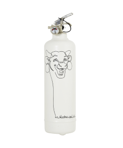 Fire extinguisher design Laughing cow white