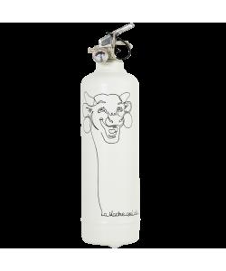 Fire extinguisher design Vache qui Rit Dessin white