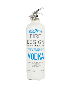 Fire extinguisher design Vodka white