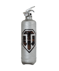 Fire extinguisher vintage World of Tanks logo design black