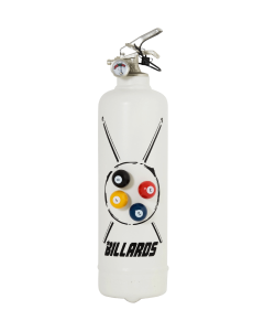 Fire extinguisher design Billard white with magnets