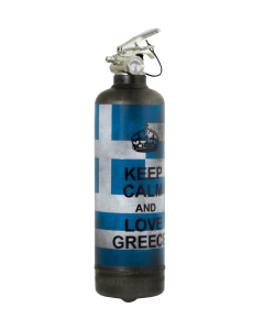 Extincteur vintage Keep Calm Greece