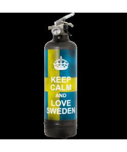 Extincteur vintage Keep Calm Sweden