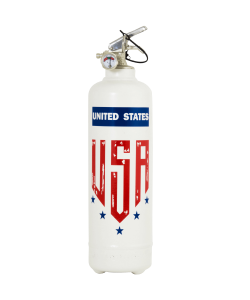 Extincteur design Five Stars USA blanc