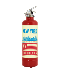 Extincteur design Brooklyn rouge