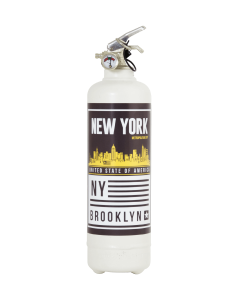 Fire extinguisher design Brooklyn white