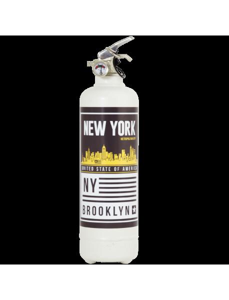 Extincteur design Brooklyn blanc