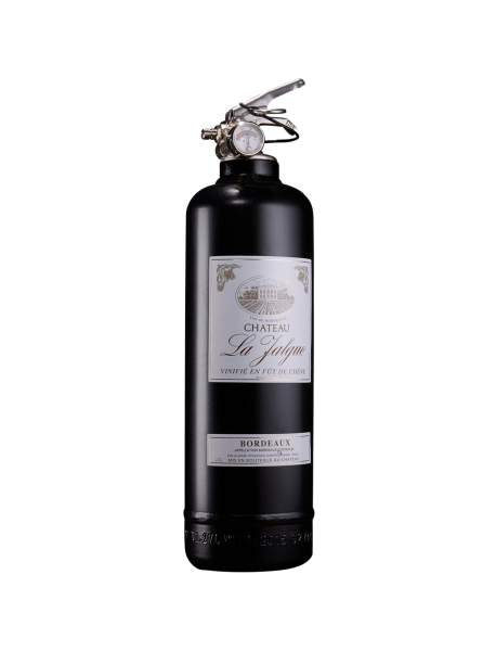 Fire extinguisher design wine black