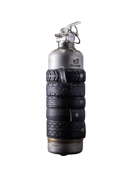Fire extinguisher vintage auto Tire