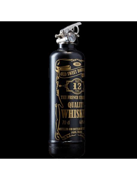 Fire extinguisher design Whiskey black gold