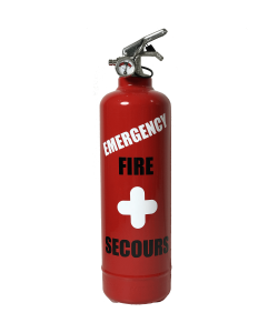 Fire extinguisher design emergency red