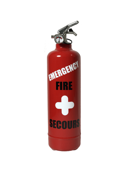extincteur design emergency rouge