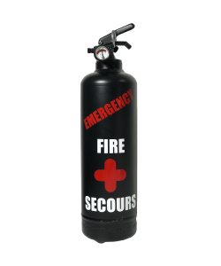 Fire extinguisher design emergency black