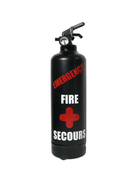 extincteur design emergency noir