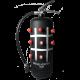 Fire extinguisher dry chemical powder 6 kg design Morpions black