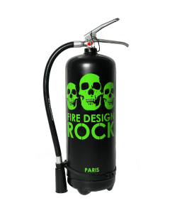 Fire extinguisher 6 kg dry chemical powder design Rock black green