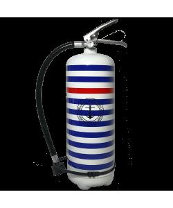 Extincteur 6 kg poudre ABC design Marine National blanc