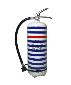Fire extinguisher 6 kg dry chemical powder ABC design Marine National blanc