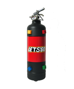 Fire extinguisher home Lets Go black