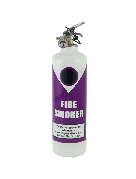 Cendrier design Violet Smoker blanc