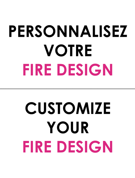 Personnalisez votre extincteur Fire design