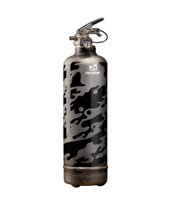 Fire extinguisher vintage Military raw black