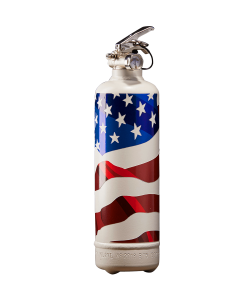 Fire extinguisher design USA flag