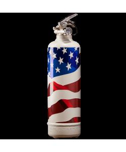 Fire extinguisher design USA flag