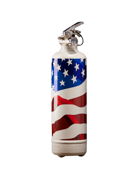 Extincteur design USA flag