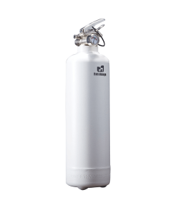 Fire extinguisher design white