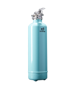 Fire extinguisher design light blue