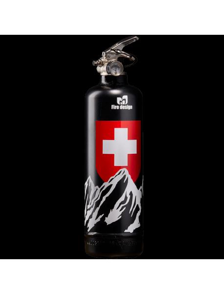 Extincteur design Petit Suisse noir