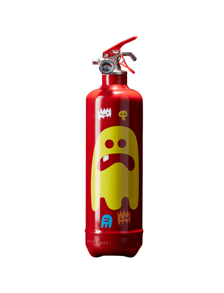 Fire extinguisher design AKLH Ghost red
