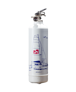 Boat fire extinguisher Catamaran white