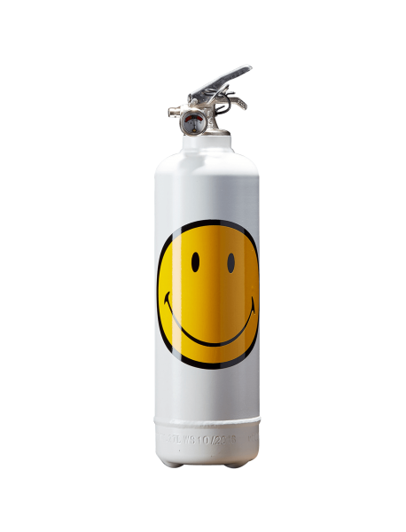 Estintore design Smiley Classic bianco