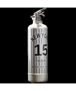 Estintore design NY Baseball bianco