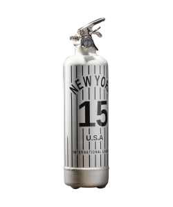 Fire extinguisher design NY Baseball white