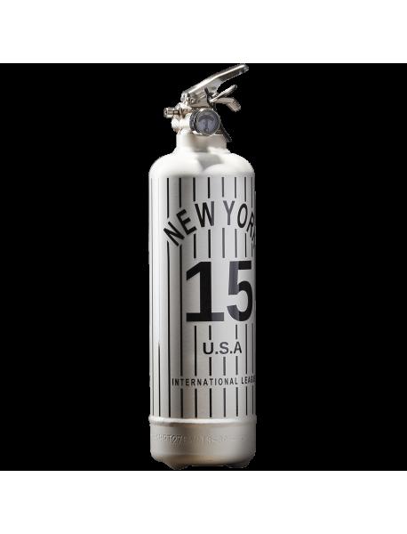 Extincteur design New York Baseball blanc