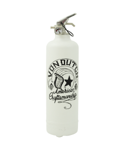 Fire extinguisher design Von Dutch Craftsmanship white
