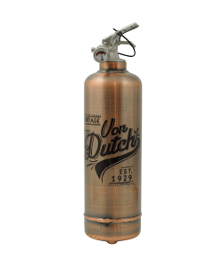 Fire extinguisher design Von Dutch Est 1929 Copper