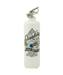 Fire extinguisher design Von Dutch Fly Eye white