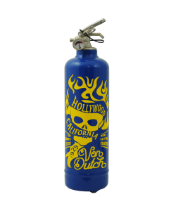 Fire extinguisher design Von Dutch Hollywood California blue
