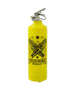 Fire extinguisher design Von Dutch Hollywood yellow