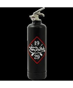 Fire extinguisher design Von Dutch Logo 1929 black