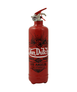 Extincteur design Von Dutch Los Angeles rouge